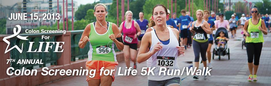 Colon Cancer Awareness Walk Run Colon Screening For Life Csfl